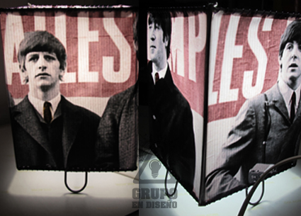 lampara con diseño original de the beatles