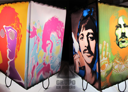 lampara con diseño original de the beatles pop